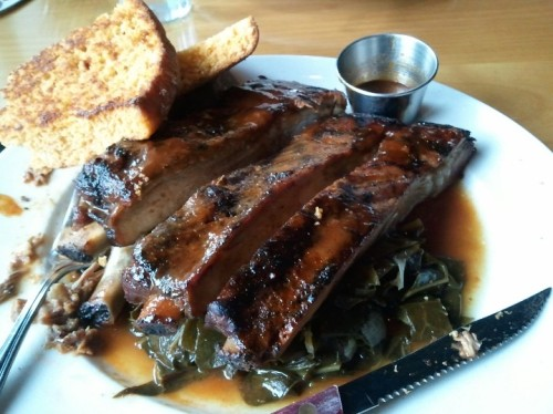 Whiskey Jack ribs at St. Clouds restaurant.