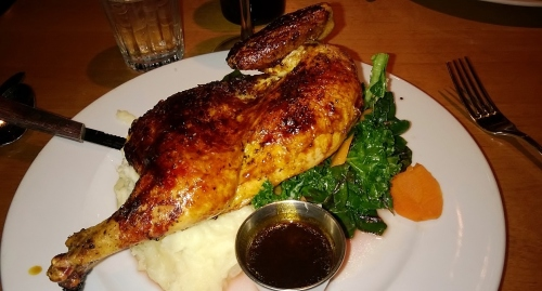 Their chicken, our sauce! yum!